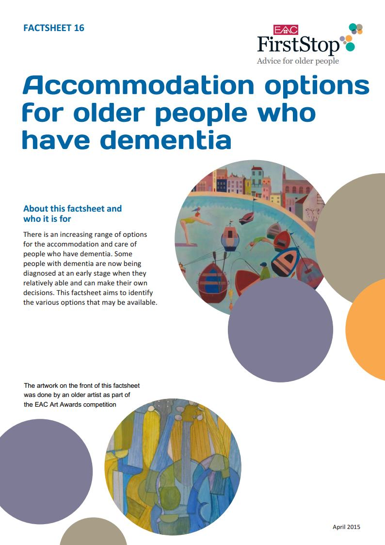 Accommodation options for older people who have dementia (FS16)