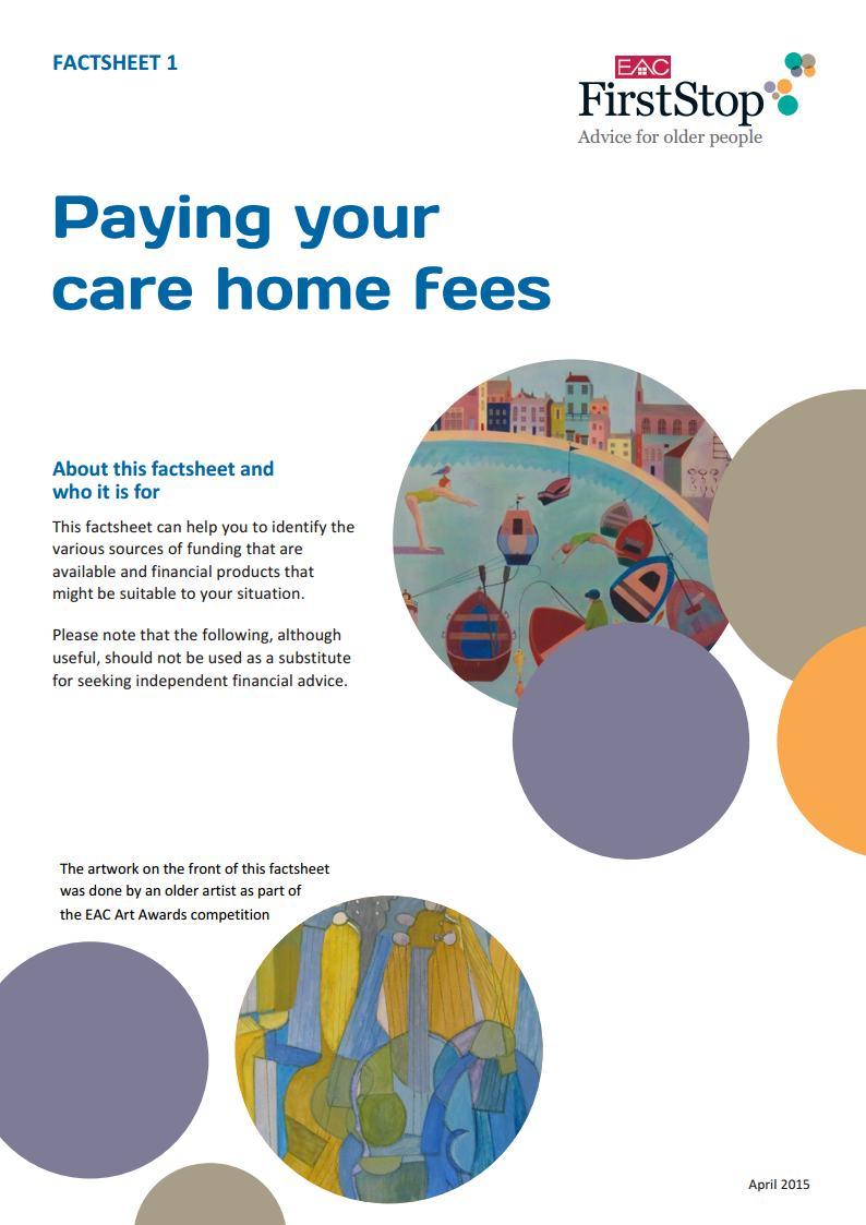 Paying your care home fees