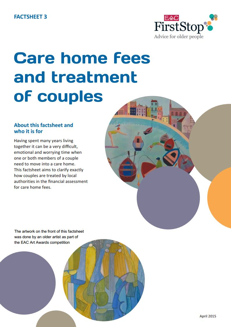 Care home fees and treatment of couples