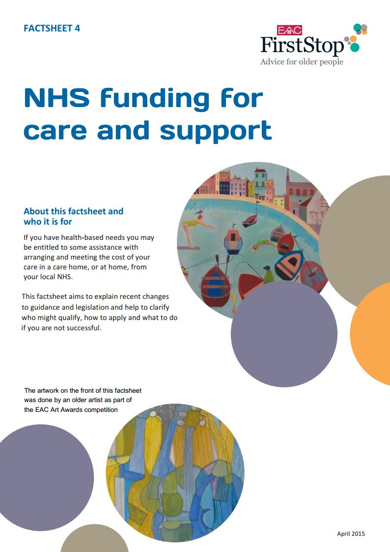 NHS funding for care and support
