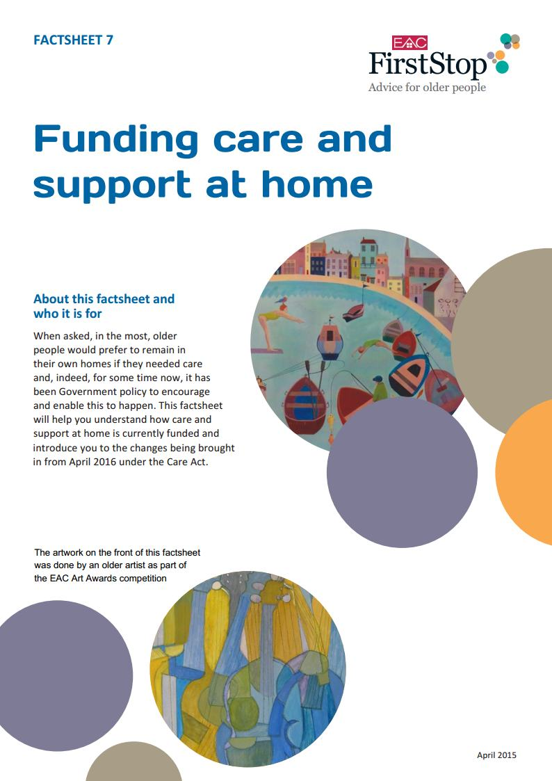Funding care and support at home