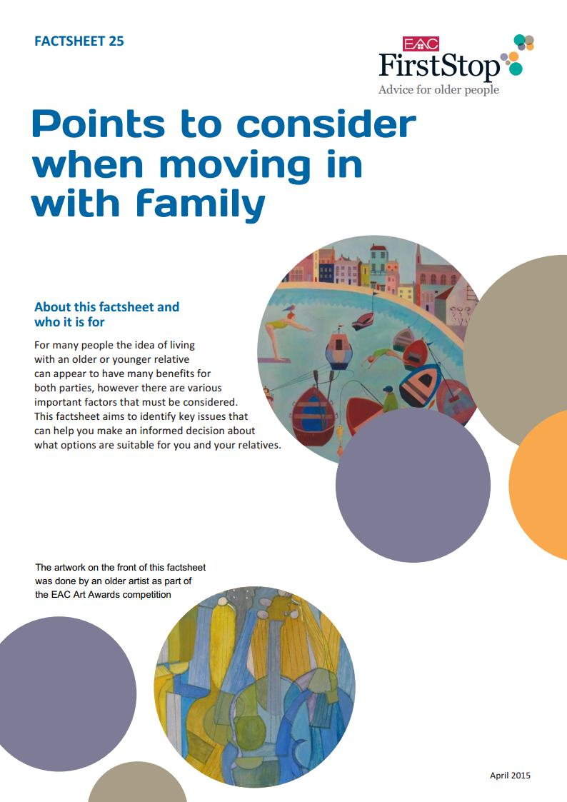 Points to consider when moving in with family