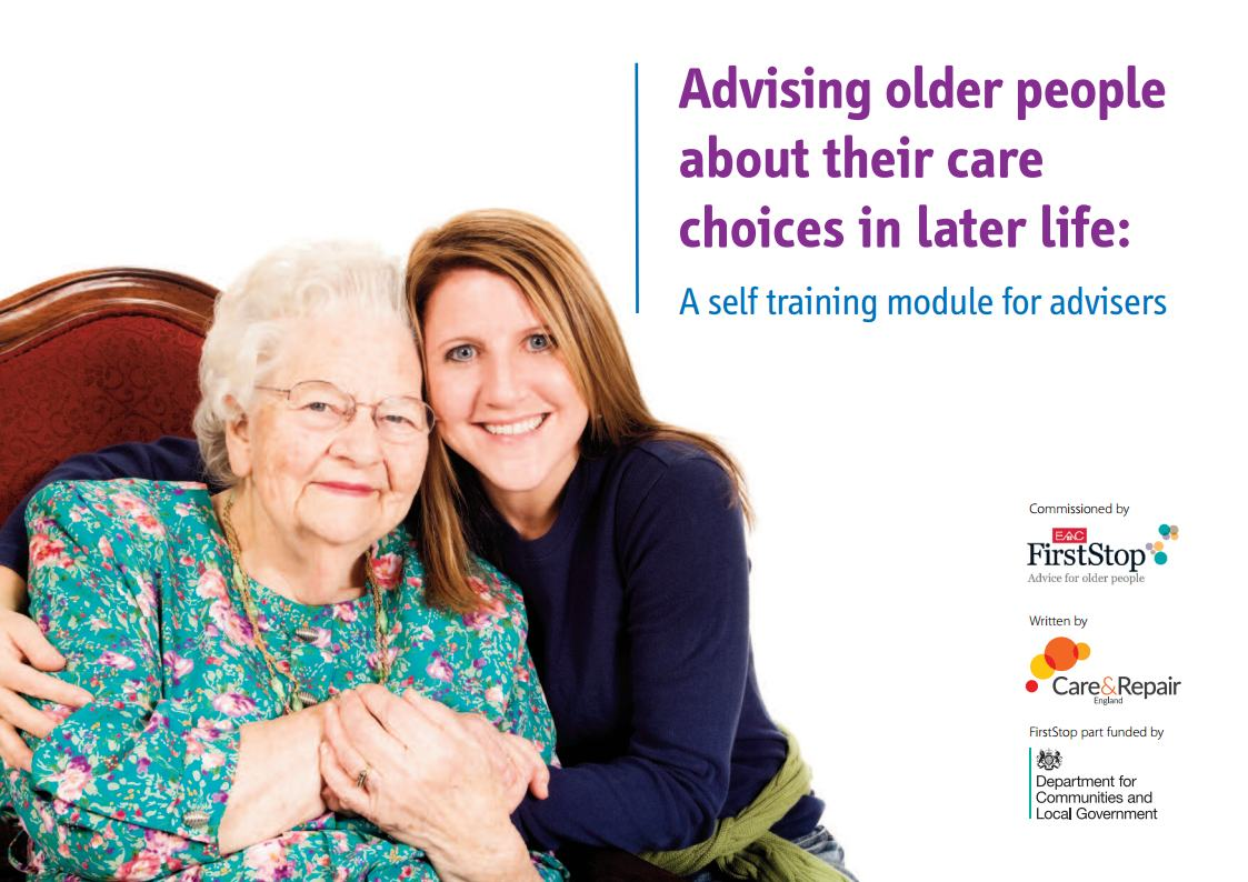 Advising older people about their care choices in later life
