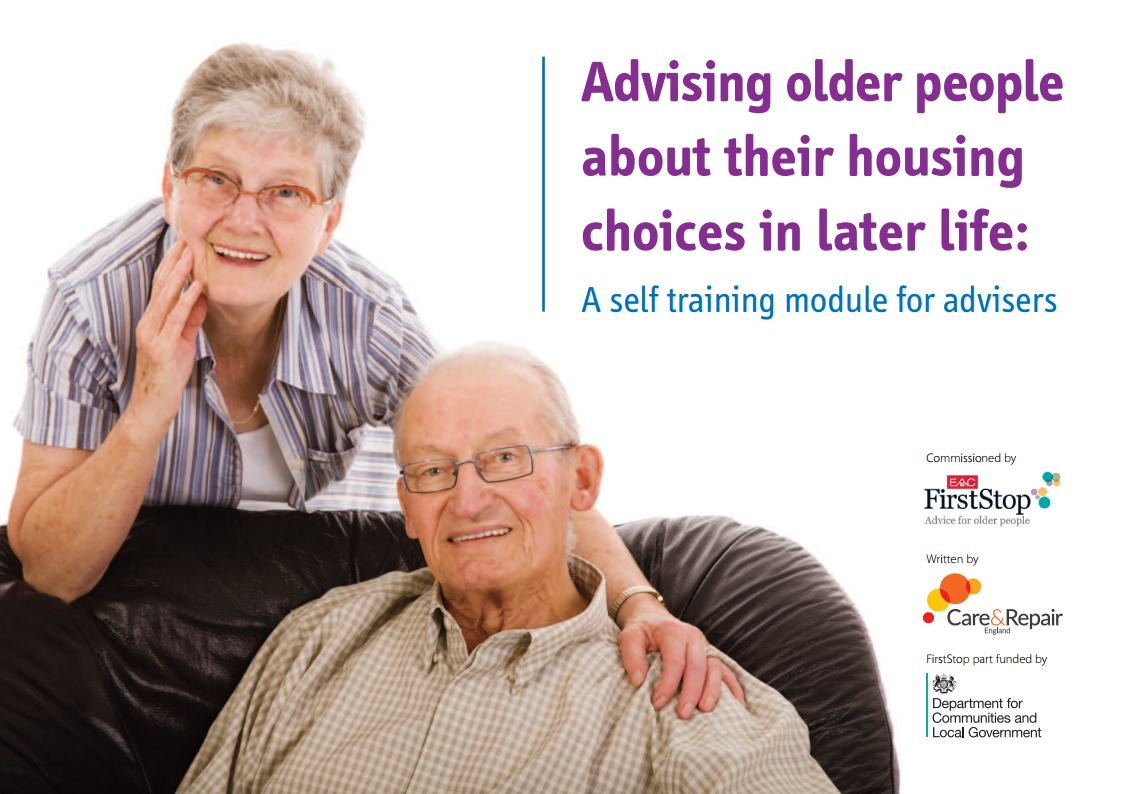 Advising older people about their housing choices in later life