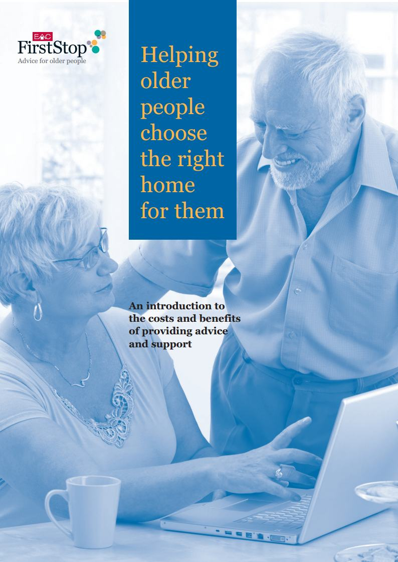 Helping older people choose the right home for them