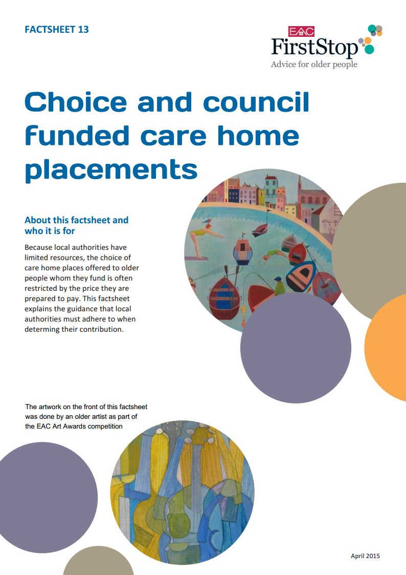 Choice and council funded care home placements