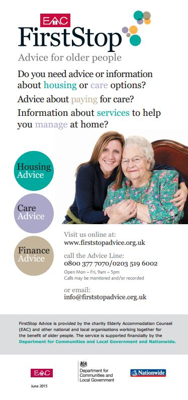 FirstStop: Advice for older people