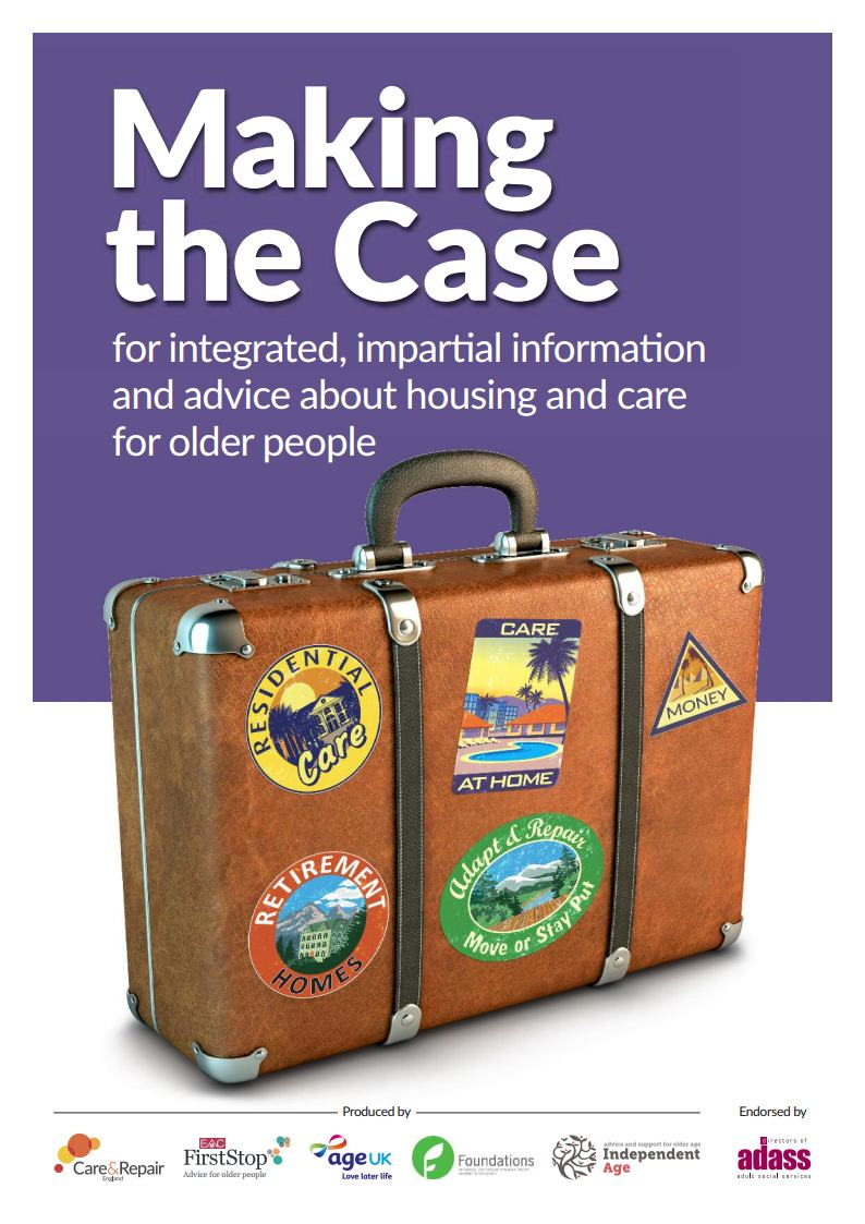 Making the case – for integrated, impartial information and advice about housing and care for older people