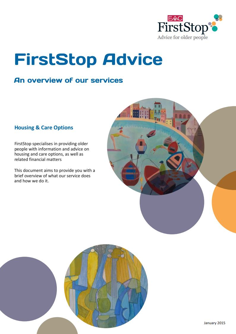 FirstStop Advice: An overview of our services