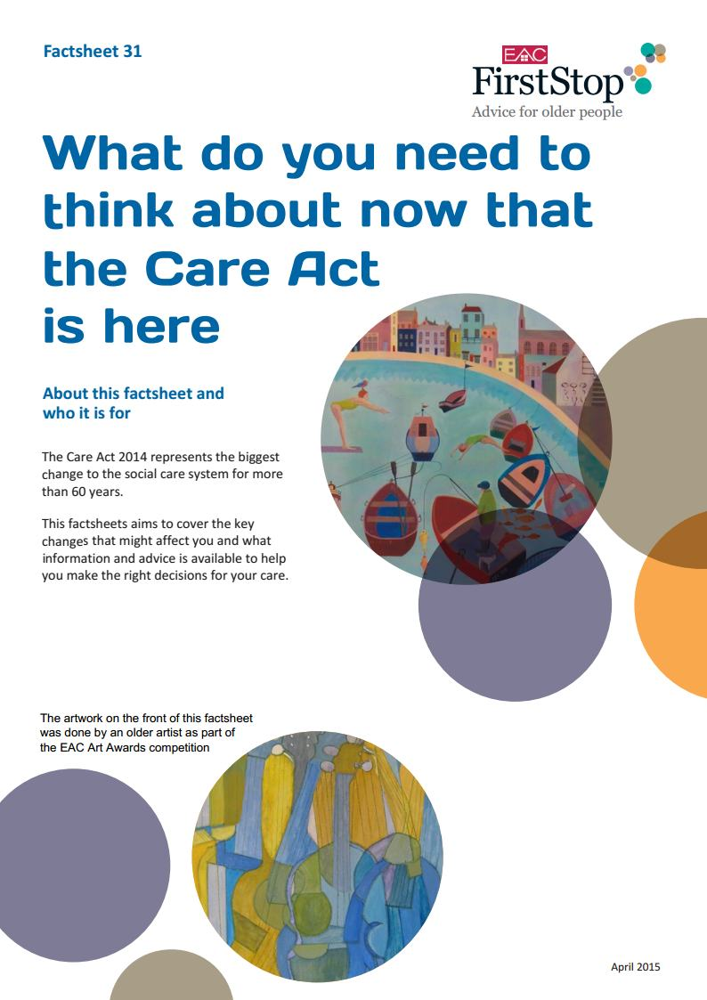What do you need to think about now that the Care Act is here